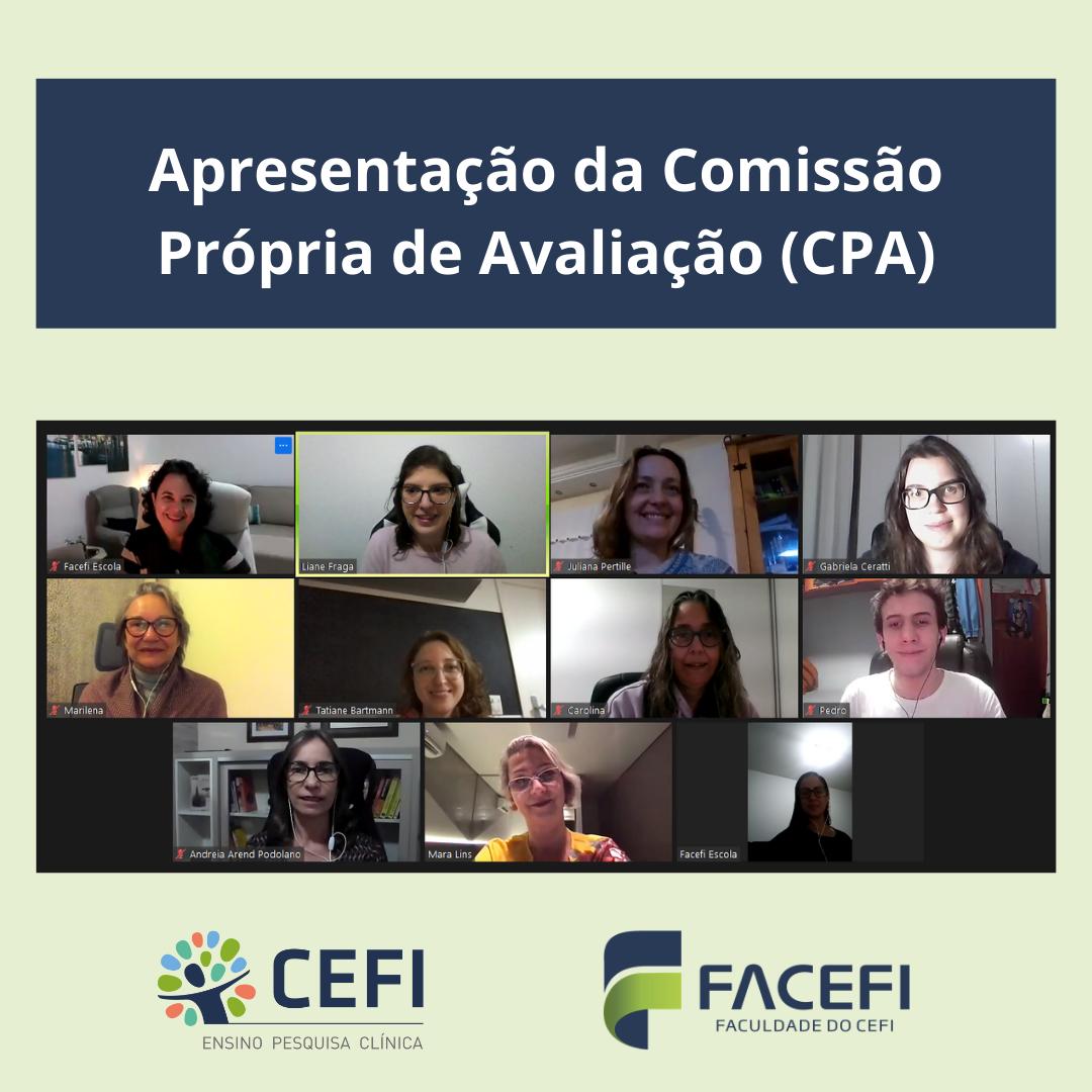 Apresentação da Comissão Própria de Avaliação (CPA)