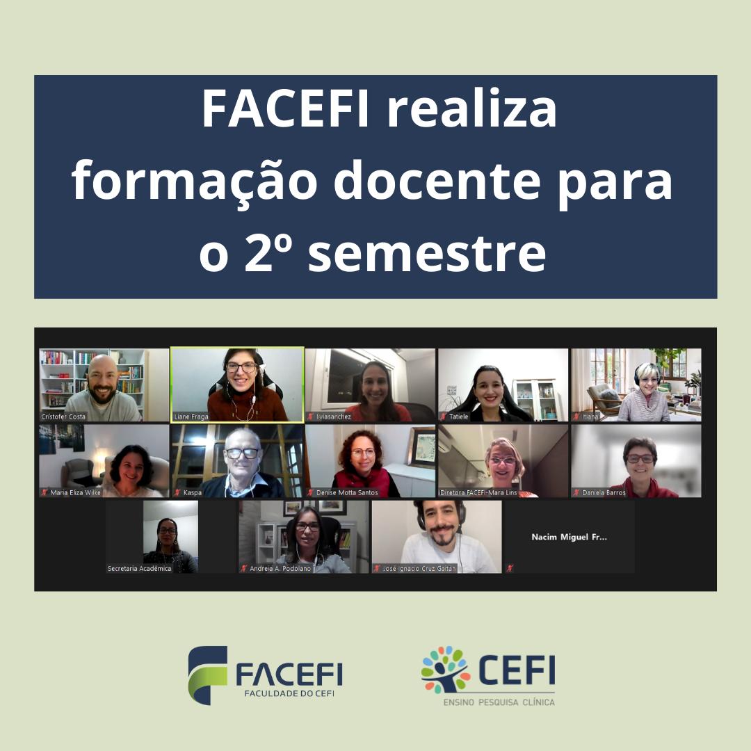 FACEFI realiza formação concente para o 2º semestre